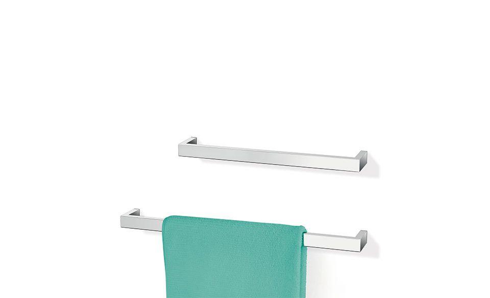 Zack Linea Polished Stainless Steel Single Towel Rail 465
