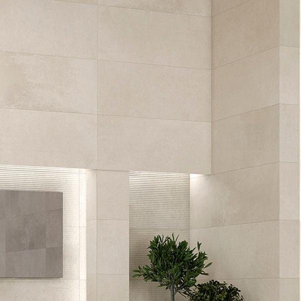 Powder Snow Glazed White Bodied Ceramic Wall Tile 400 x 1200mm