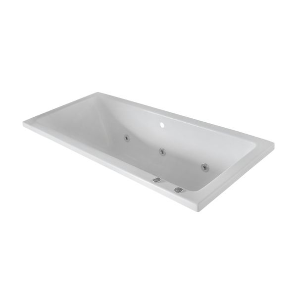 Betta Baths Athena White Thickened Acrylic Built In Bath With Luxury Conversion 1800 x 800 x 510mm