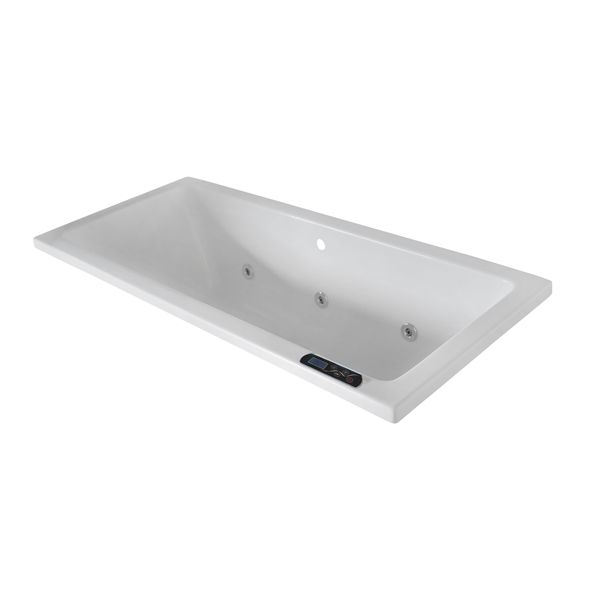 Betta Baths Athena White Thickened Acrylic Built In Bath With Ultimate Plus Conversion 1800 x 800 x 510mm