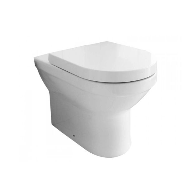 Verdi Atlas White Floor Standing Toilet Including Soft Close Seat