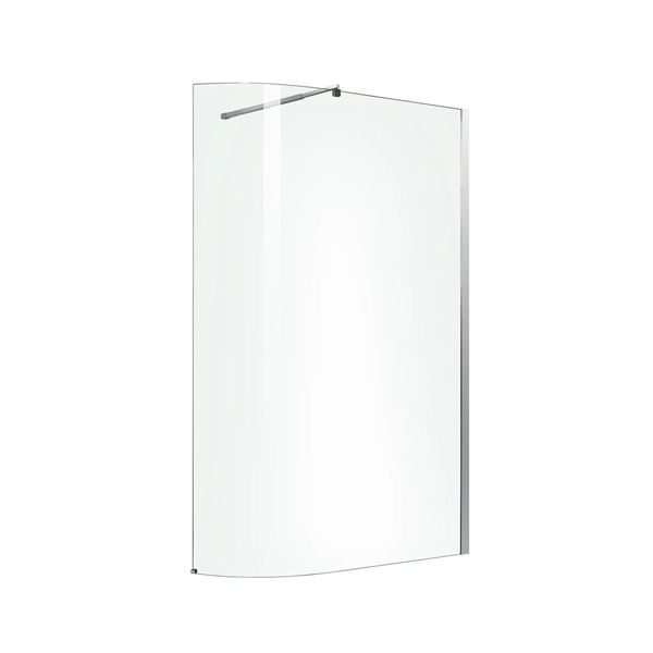Wall Mounted Curved Shower Screen 800-1000 x 1185 x 2000mm