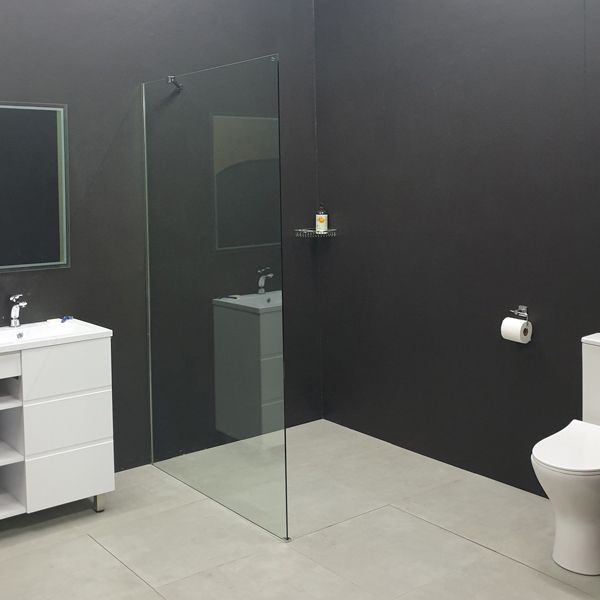 Wall Mounted Chrome Shower Screen 1200 x 2000mm