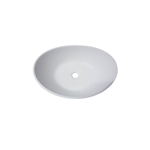 Dado Elegance Slipper White Matt Counter Top Basin Without Tap Hole 500 x 380 x 173mm