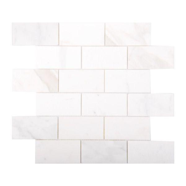 Rome Bianco Statuario Marble Mosaic 310 x 305mm