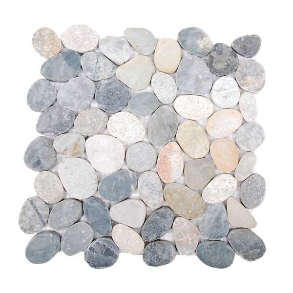 Island Stone Java Grey Level Pebble Mosaic Sheet 300 x 300mm