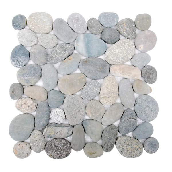 Island Stone Java Grey Perfect Pebble Mosaic Sheet 300 x 300mm