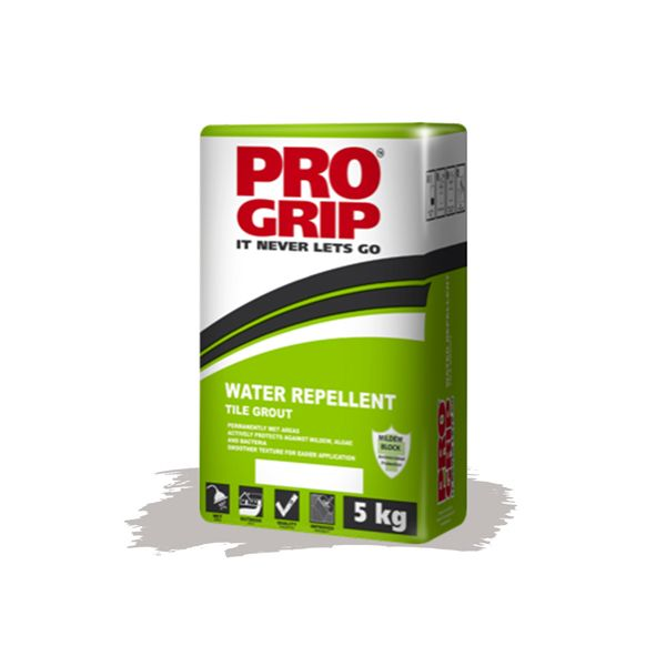 Pro Grip Cloud Grey Water Repellent Tile Grout 5kg
