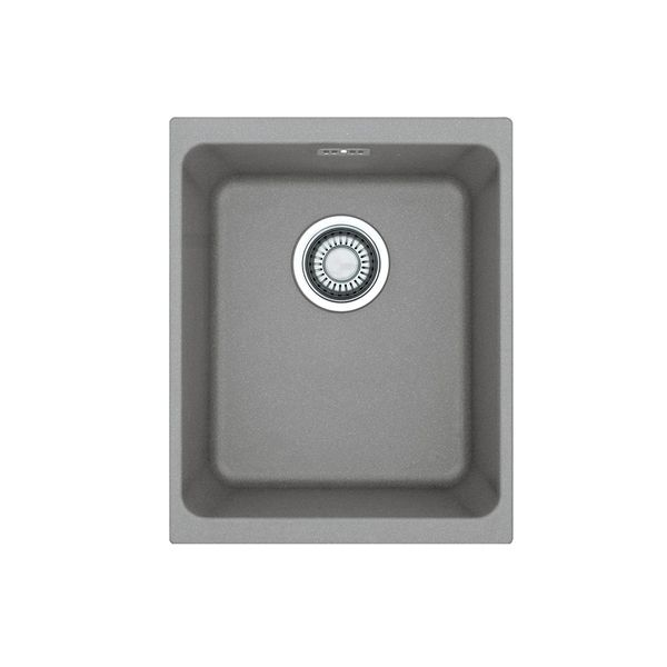 Franke Kubus Grey Fragranite Undermount Sink & Strainer Waste 380 x 440 x 200mm