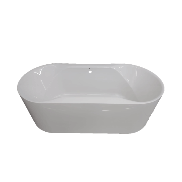 Scarlet Oval White Acrylic Freestanding Bath 1670 x 785 x 595mm