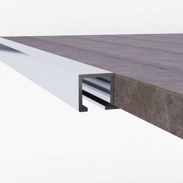 Promax Aluminium Square Edge Trim 12 x 2500mm