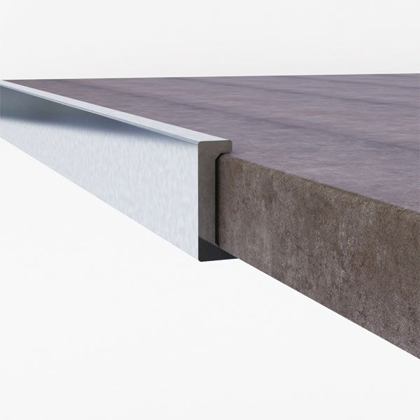 Promax Aluminium Straight Edge Trim 12mm x 2500mm