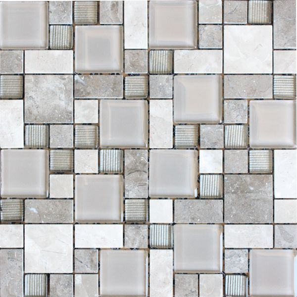 Borneo Blend Natural Stone and Glass Mosaic 300 x 300mm