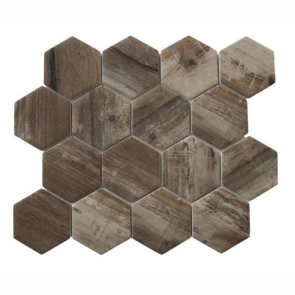 Scorpio Inkjet Recycled Glass Mosaic 258 x 300mm