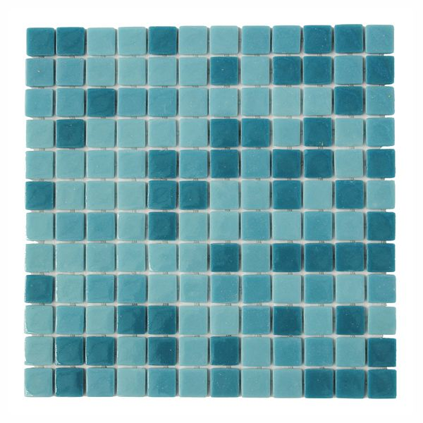 Green Pool Blend Full Bodied Glass Mosaic 300 x 300mm