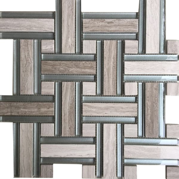Kingstone Natural Stone And Glass Mosaic 296 x 296mm