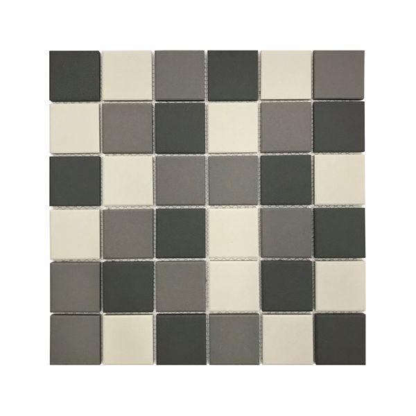 White Mid Dark Full Bodied Blend Mosaic 306 x 306mm