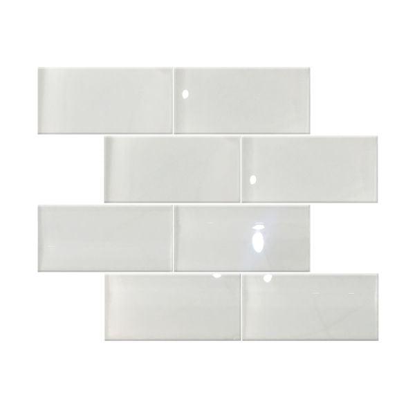 Super White Glass Subway Mosaic Sheet 300 x 300mm
