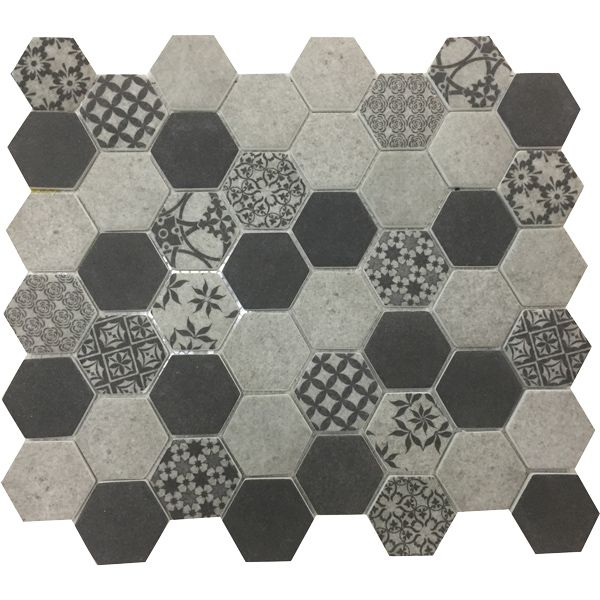 Milan Hexagonal Inkjet Enviro-Glass Mosaic Sheet 280 x 324mm