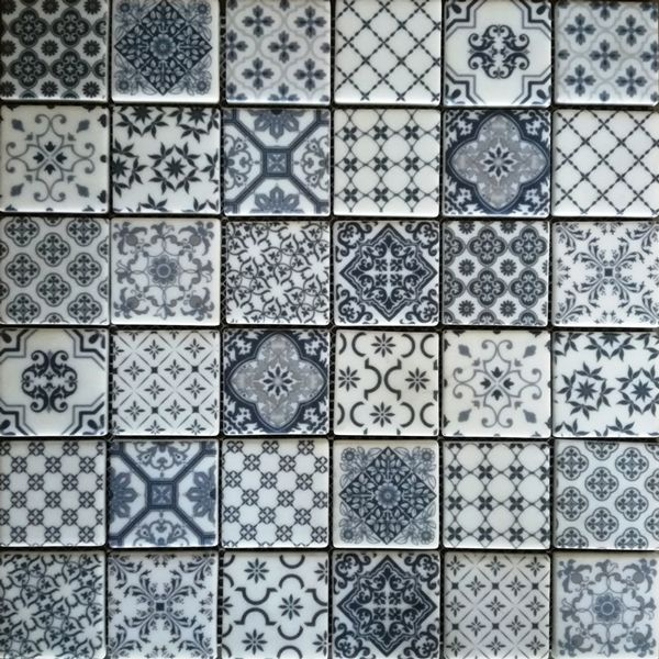 Antique Blue Enviro-Glass Mosaic Sheet 300 x 300mm