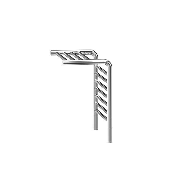 Jeeves Tangent M Polished Stainless Steel Heated Towel Shelf 555 x 520mm