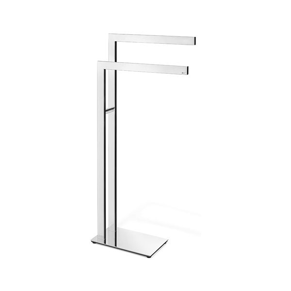 Zack Linea Polished Stainless Steel Freestanding Towel Stand