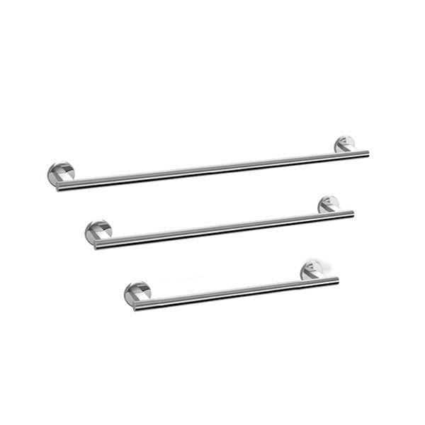 Zack Scala Polished Stainless Steel Single Towel Rail 510 x 81 x 60mm