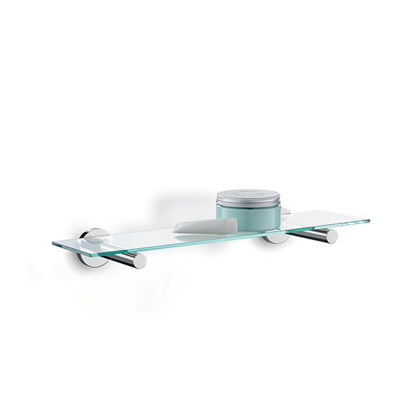 Zack Scala Polished Stainless Steel Glass Shelf 500 x 120 x 60mm