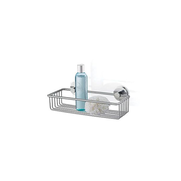 Zack Scala Polished Stainless Steel Large Shower Basket 308 x 152 x 92mm