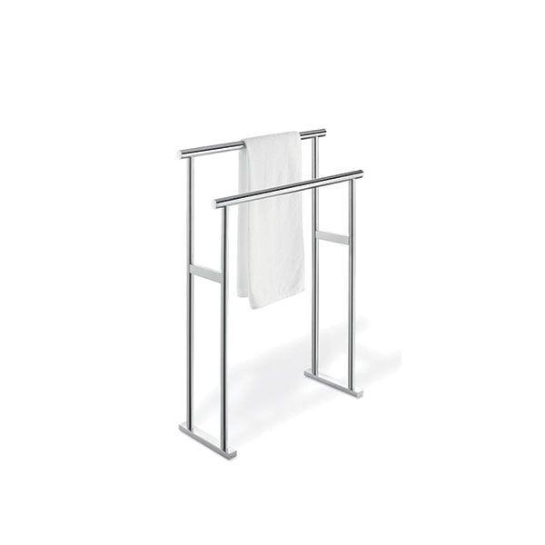 Zack Scala Polished Stainless Steel Freestanding Towel Rail 800 x 600mm
