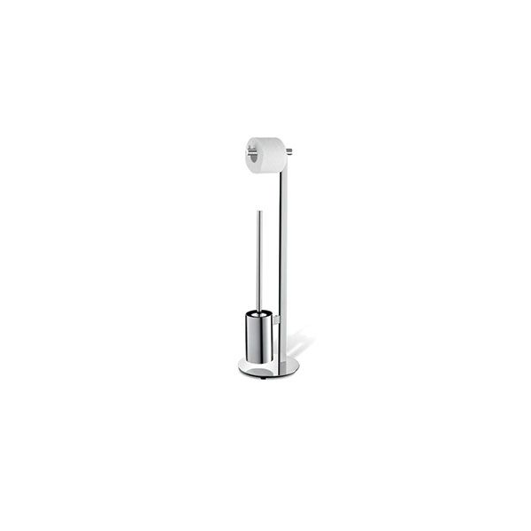 Zack Scala Polished Stainless Steel Freestanding Toilet Butler ø 20 x 720mm