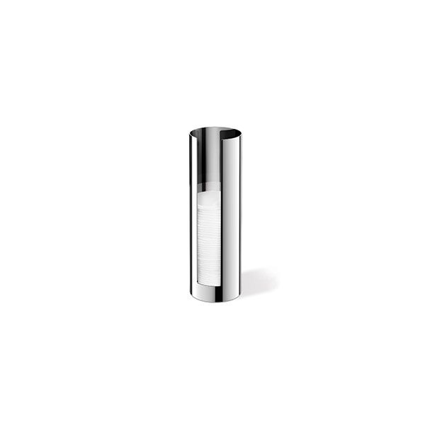 Zack Scala Polished Stainless Steel Cotton Pad Dispenser ø64 x 200mm