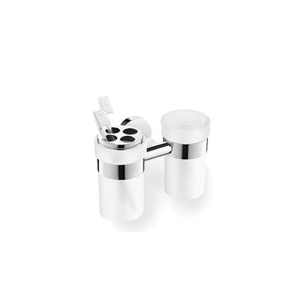Zack Scala Polished Stainless Steel Tumbler & Toothbrush Holder Set 180 x 115mm