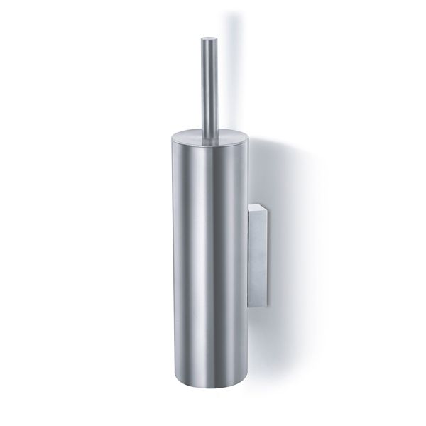 Zack Tubo Brushed Stainless Steel Wall Mounted Toilet Brush