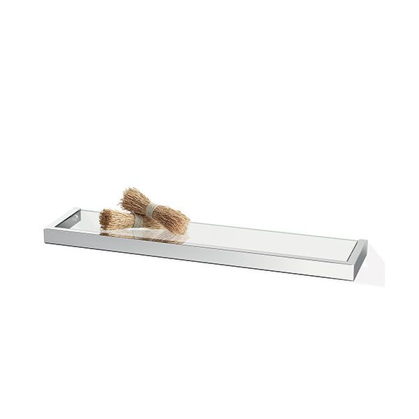 Zack Linea Polished Stainless Steel Glass Shelf 615 x 30 x 132mm
