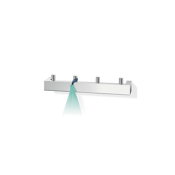 Zack Linea Polished Stainless Steel Double Robe Hook Rail 265 x 48 x 47mm