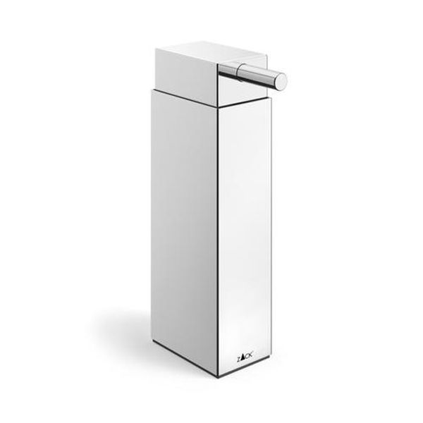 Zack Linea Polished Stainless Steel Freestanding Soap Dispenser 130 x 450mm