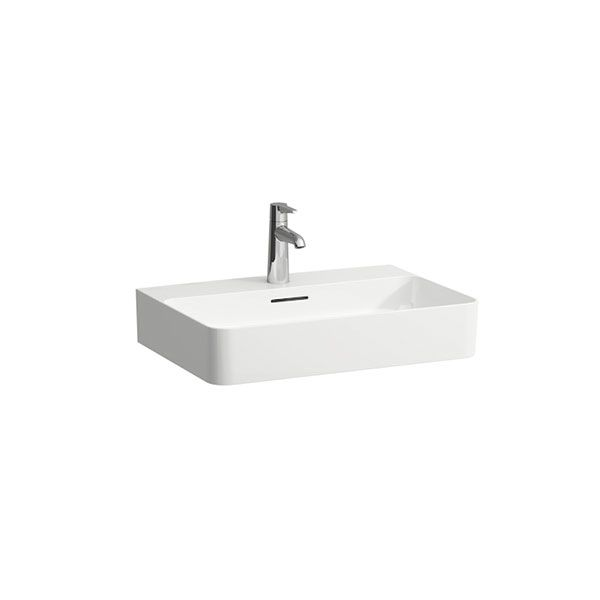 Laufen VAL White Wall Hung Basin With Tap Hole 600 x 420 x 115mm