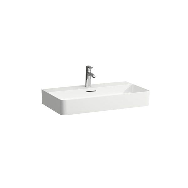 Laufen VAL White Wall Hung Basin With Tap Hole 750 x 420 x 115mm