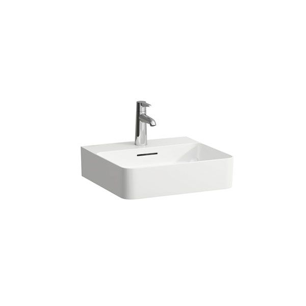 Laufen VAL White Wall Hung Basin With Tap Hole 450 x 420 x 115mm