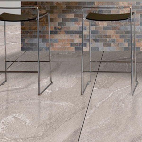 Marcello Grey Glazed Vitrified Polished Porcelain Tile 600 x 1200mm