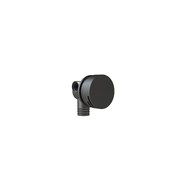 Black Round Nikki Bath Spout & Overflow