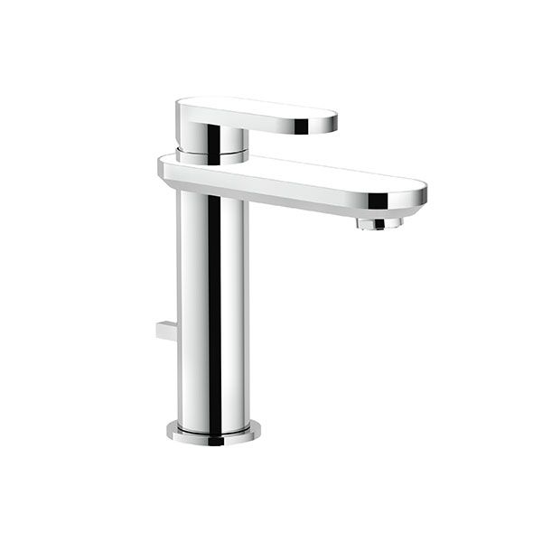 Nobili Dress Chrome & White Basin Mixer Including Pop Up