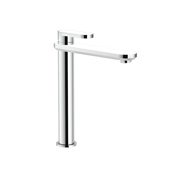 Nobili Dress Chrome & White Tall Basin Mixer Excluding Pop Up