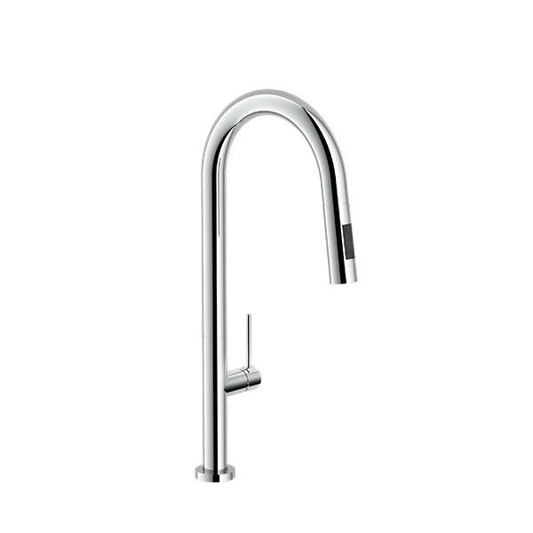 Tivoli Vicenza Pillar Type Kitchen Sink Mixer With Pull Out Spray