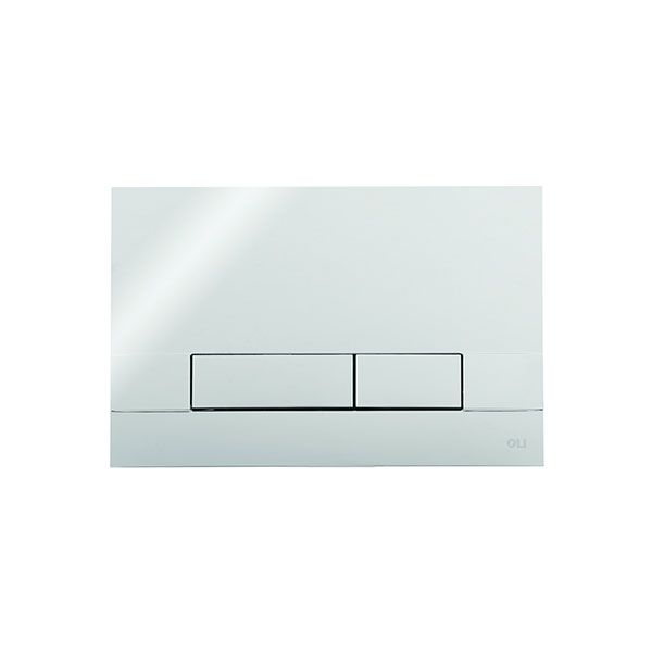 Narrow Polished Chrome Dual Flush Plate