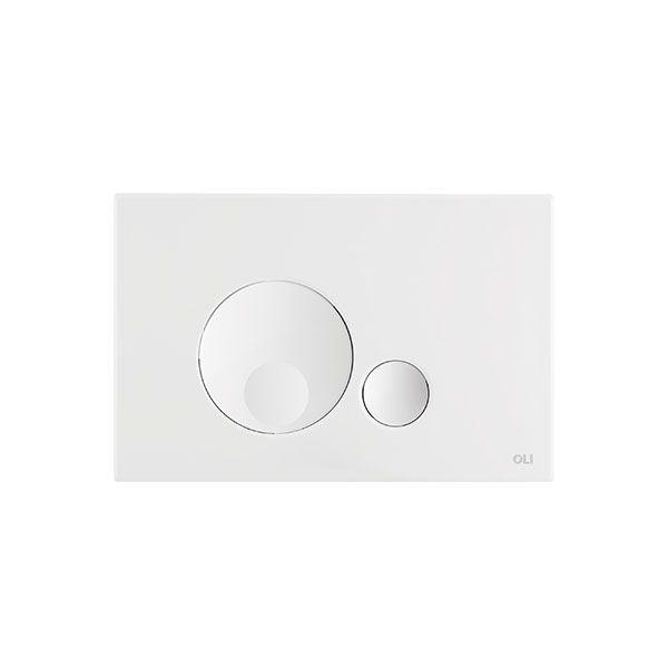 Globe White Dual Flush Plate