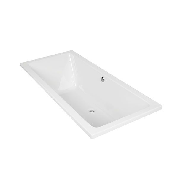 Aquarius Athena White Thickened Acrylic Built In Bath 1800 x 800 x 510mm