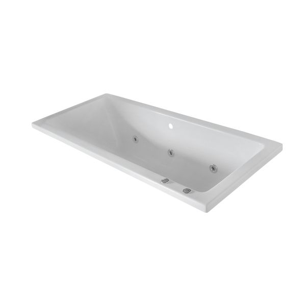 Athena White Thick Drop-In Bath With Lux Conversion 470x750x1700mm