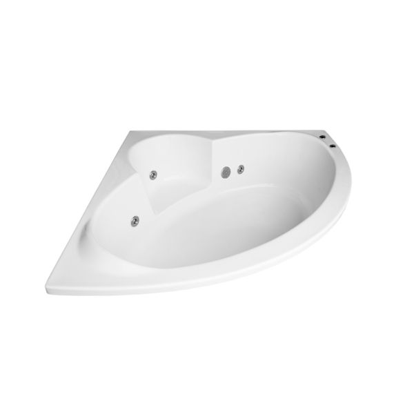 Sardinia White Oval Thickened Drop-In With Comfort Plus Conversion 475x1520x1520mm